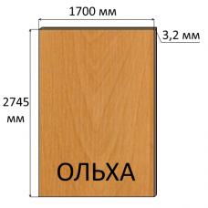 ДВП 3,2 мм, 2745х1700 мм, Ольха